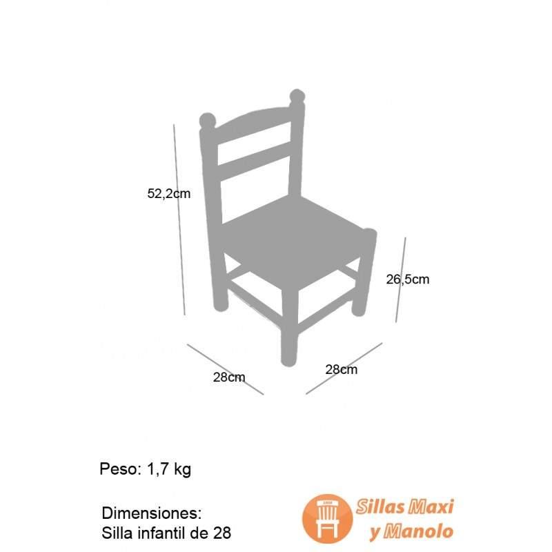 Silla infantil de enea y madera de 28 for Medidas sillas ninos