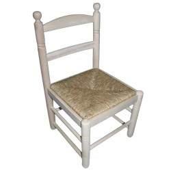Cadeira em madeira e palha Super Chata