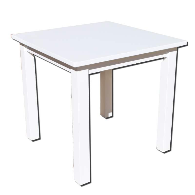 Mesa cuadrada de madera for Mesa cuadrada