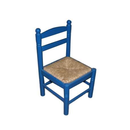 Cadeira infantil em madeira e palha Costurera