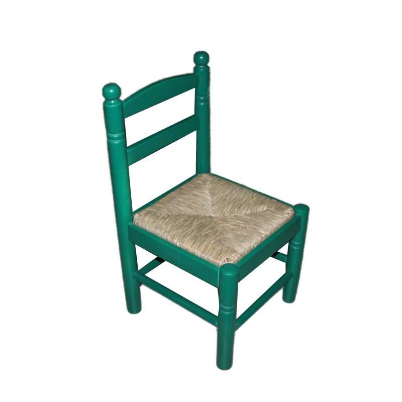Silla infantil de enea y madera costurera - Silla infantil madera ...