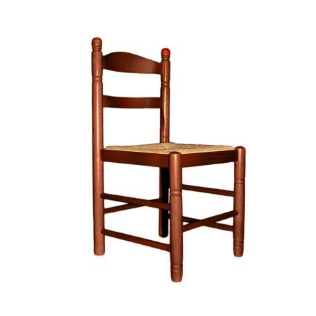 Silla rustica de enea y madera Mediana