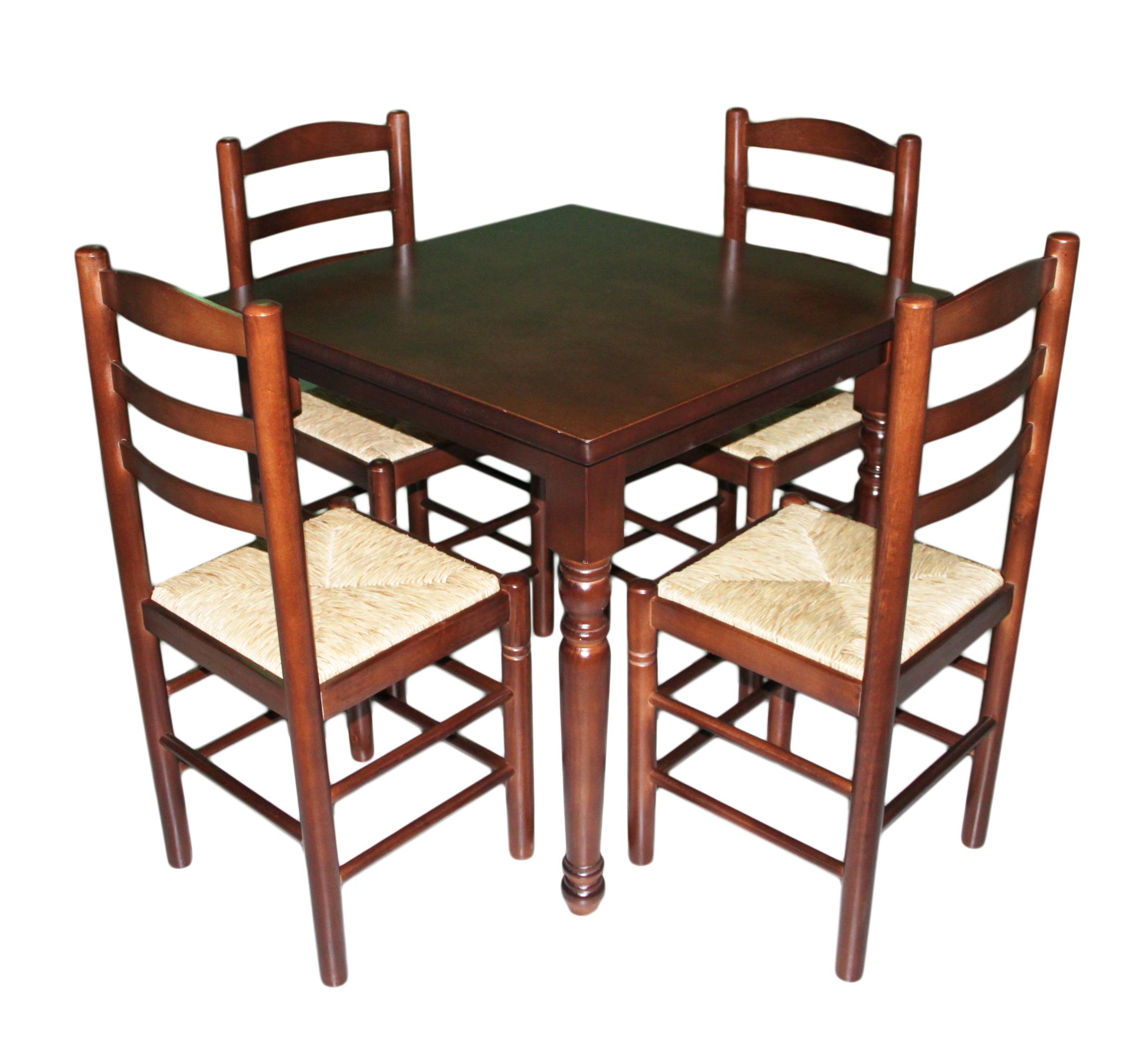 Conjunto sillas y mesa